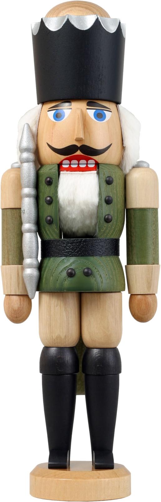 Grune Farbe Html :  Seiffener Volkskunst Nussknacker König Esche lasiert grüne Farbe