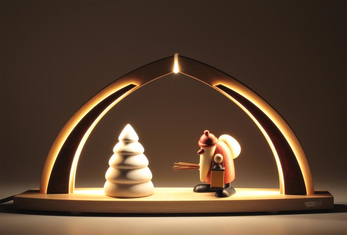 led schwibbogen mit bjoern k hler weihnachtsmann erzgebirgskunst drechsel. Black Bedroom Furniture Sets. Home Design Ideas