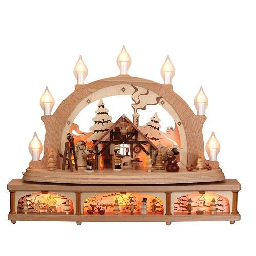 schwibbogen weihnachtsstimmung erzgebirgskunst drechsel. Black Bedroom Furniture Sets. Home Design Ideas