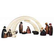 Große Weihnachtskrippe Krippenfiguren, 14-teilig