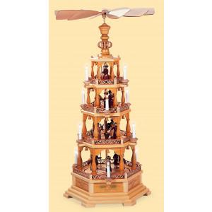 Elektrische Pyramide Heilige Geschichte 4-stöckig, 120 Volt