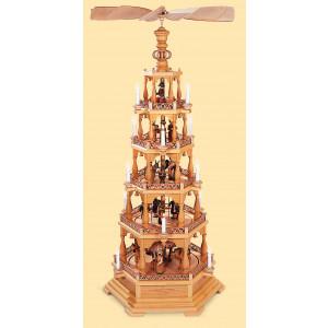 Pyramide Heilige Geschichte 5-stöckig, elektrisch, 120 Volt