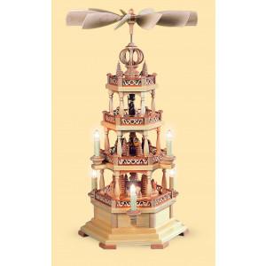 Pyramide mit Waldmotiv 3-stöckig, elektrisch, 120 Volt