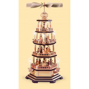 Elektrische Pyramide mit der Heiligen Geschichte 4-stöckig, 120 Volt