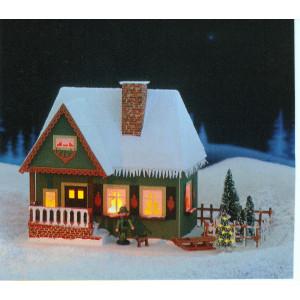 Lichterhaus Altes Forsthaus mit Weihnachtsbaum