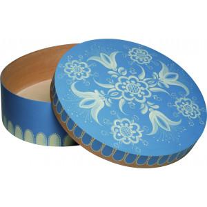 Spandose mit floralem Muster blau, groß, rund, Ø 51 cm