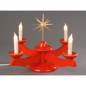Adventsleuchter rot elektrische Beleuchtung