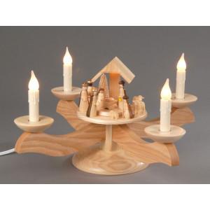 Adventsleuchter Christi Geburt elektrisch