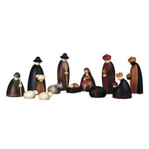 Große Weihnachtskrippe Krippenfiguren, 12-teilig