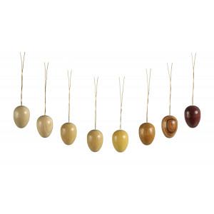 Baumbehang Eier 8-teilig natur