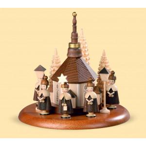 Motivplattform Kurrende mit Seiffener Kirche natur