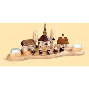 Teelicht Kerzenhalter Seiffener Dorf
