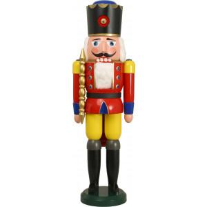 Nussknacker als König in Rot, 100 cm