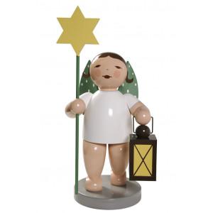 Engel gross mit Stern und Laterne, 60 cm