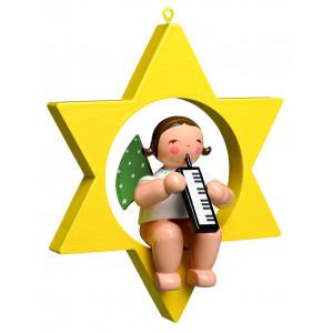 Engel mit Melodika im Stern