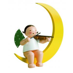 Engel mit Geige im Mond gross