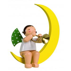 Engel mit Trompete im Mond, gross