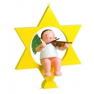 Engel mit Geige im Stern, gross
