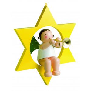 Engel mit Trompete im Stern, gross