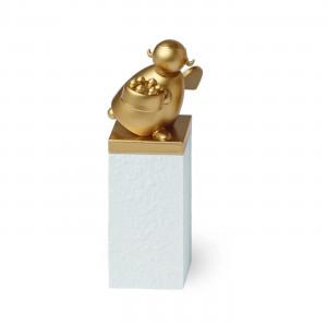 Schutzengel Gold mit Torte