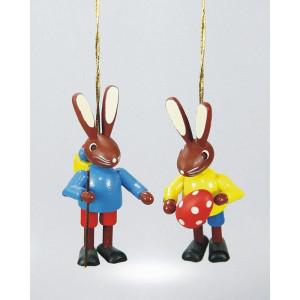Baumbehang Osterhasenpärchen 2 Kinder