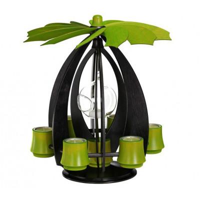 h ngepyramide nova xl anthrazit lindgr n erzgebirgskunst drechsel. Black Bedroom Furniture Sets. Home Design Ideas