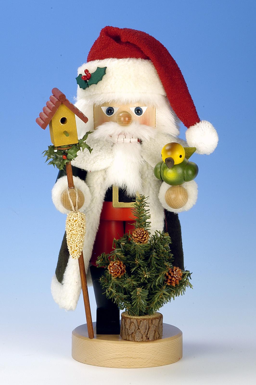Nussknacker Santa  Vogelfütterung  mit Vogelhaus