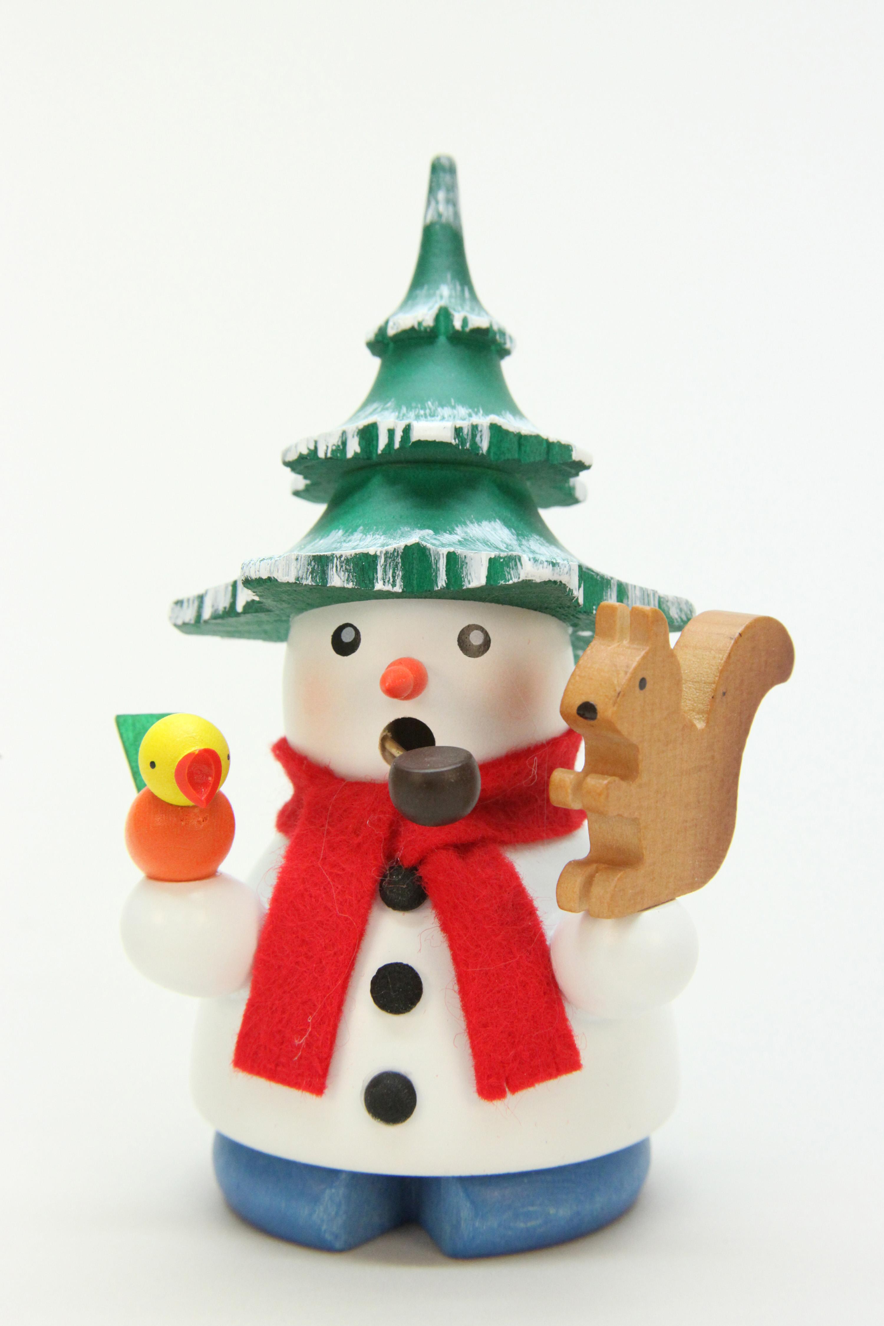 Räuchermännchen Schneemann mit Baum