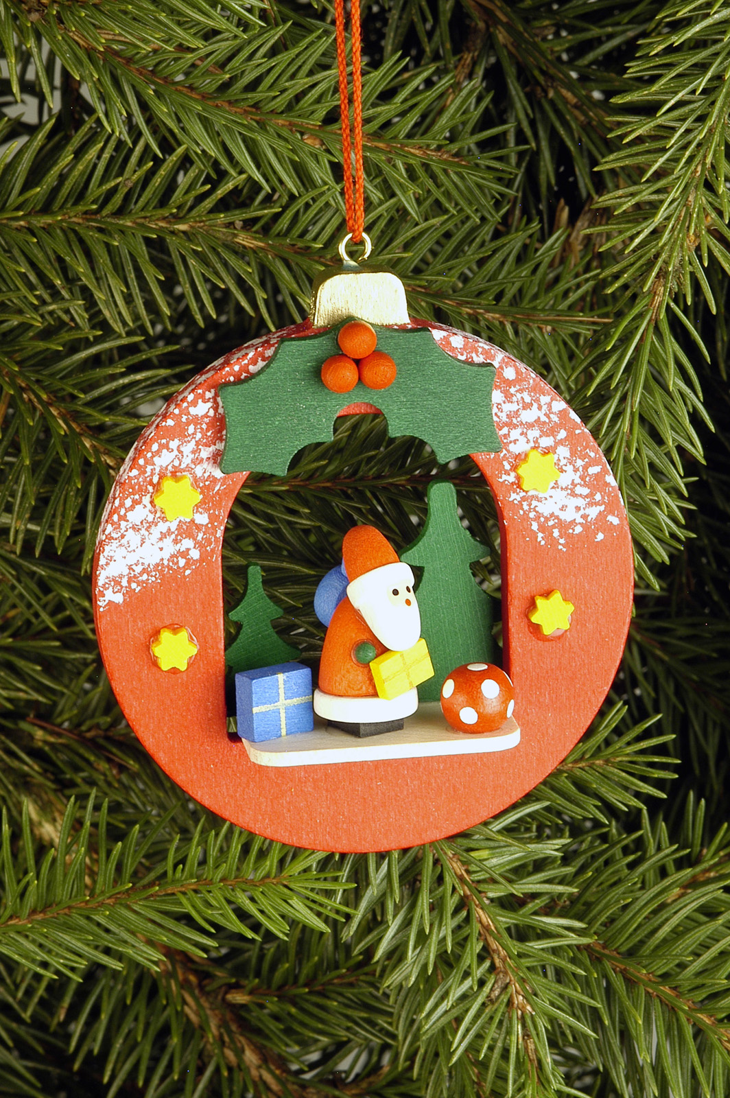 Baumbehang Kugel mit Weihnachtsmann