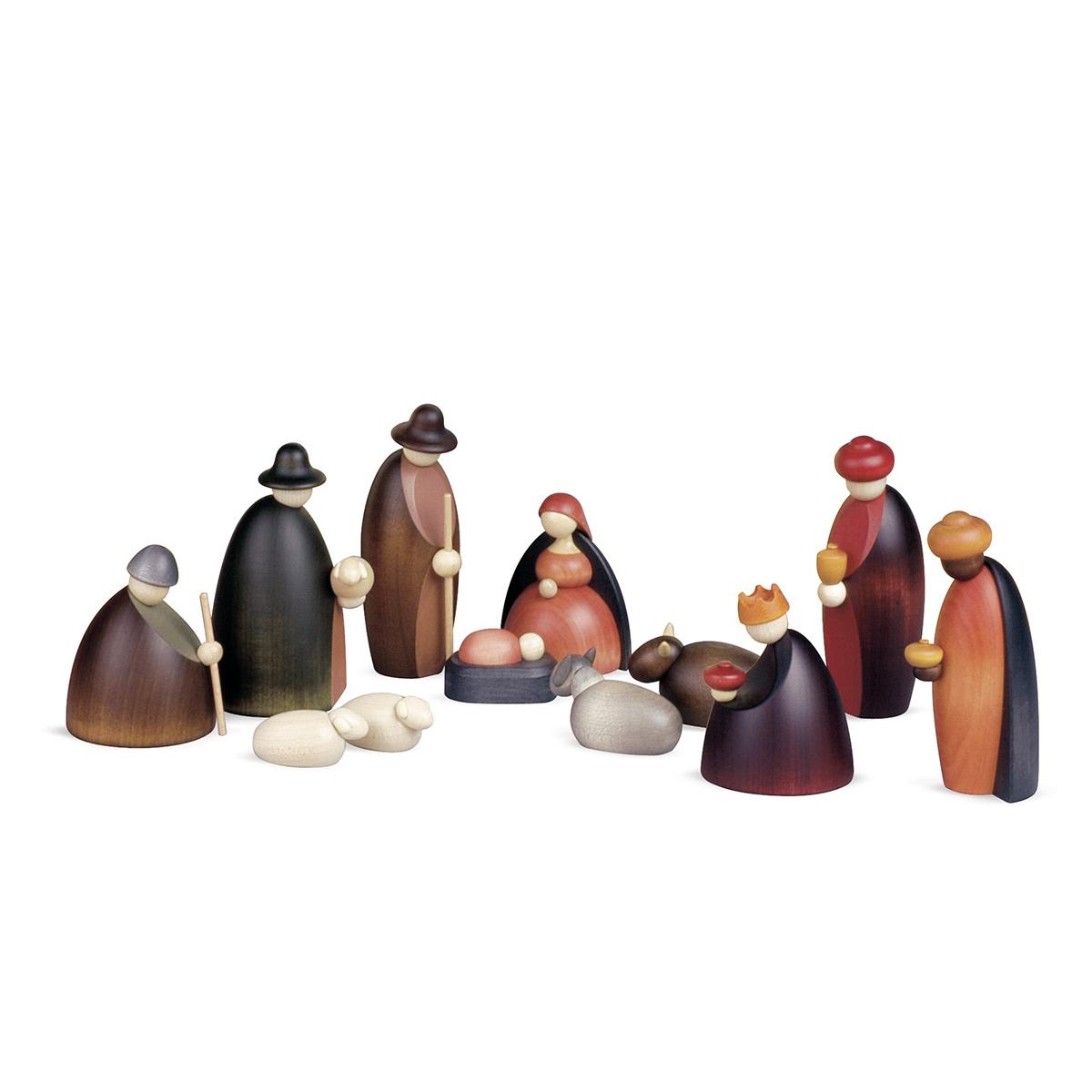 Weihnachtskrippe Krippenfiguren, 12-teilig