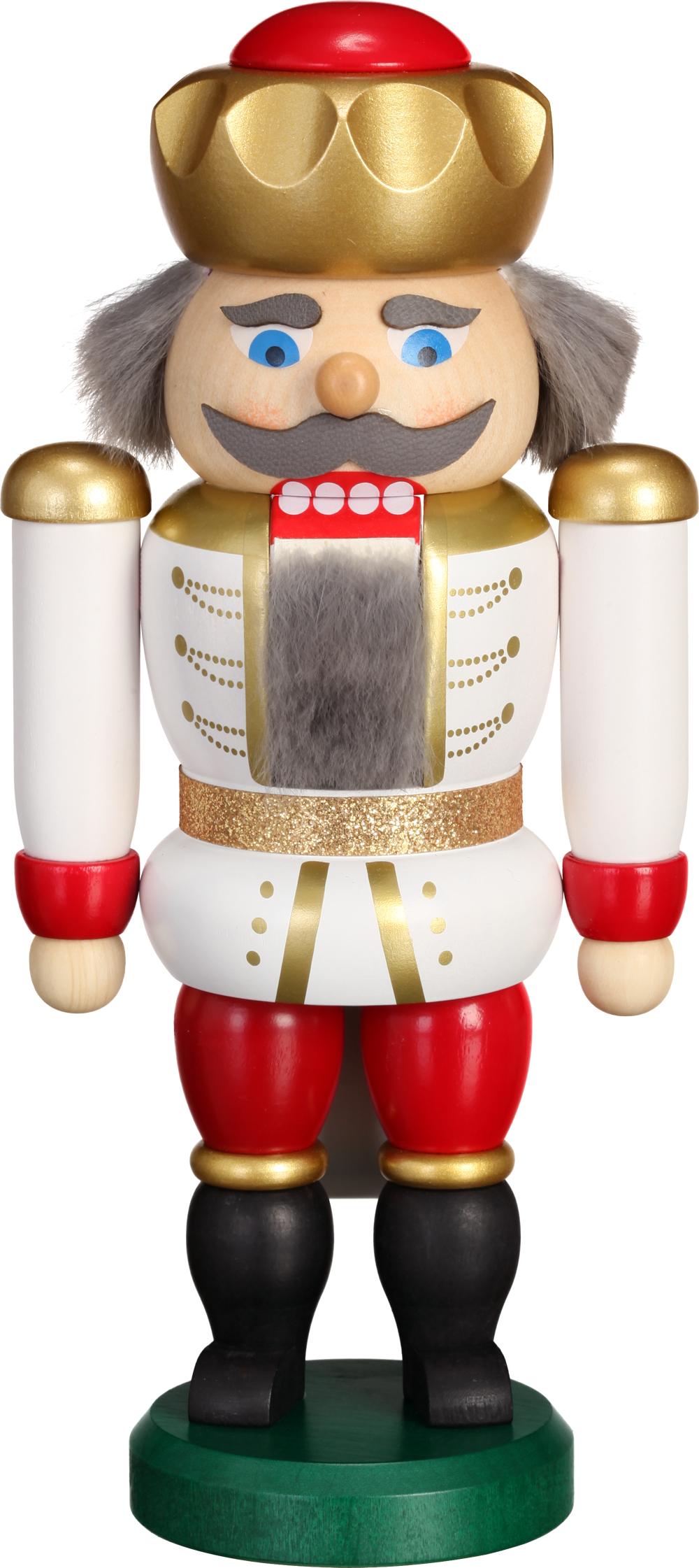 Nussknacker Exklusiv König weiß-rot