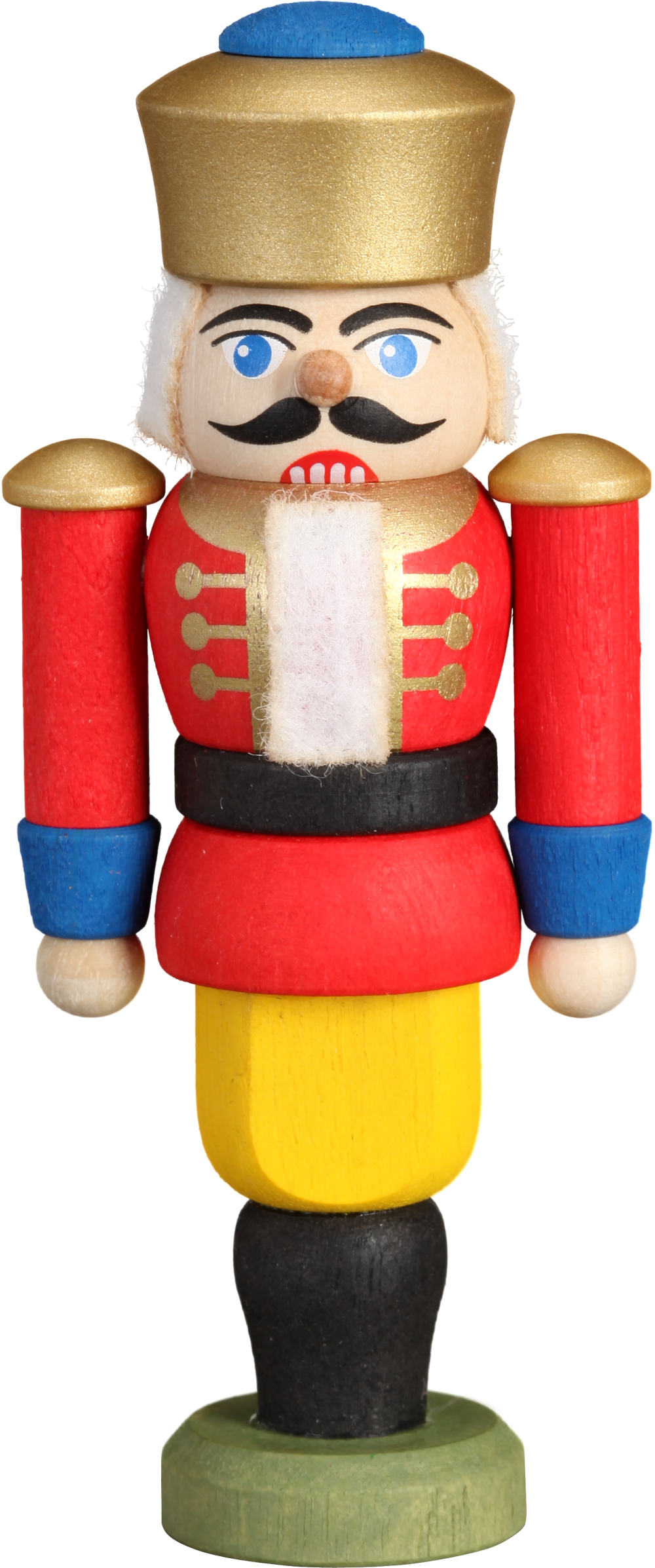 Mini Nussknacker König rot