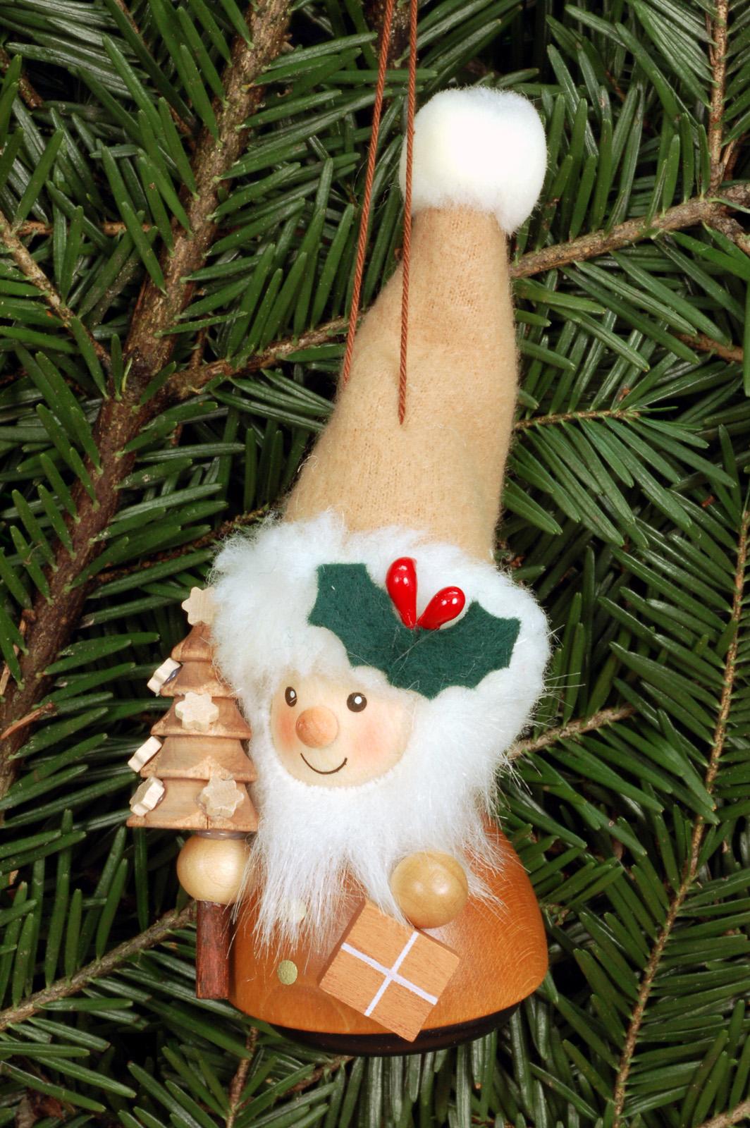 Baumbehang Wackelmännchen Weihnachtsmann natur