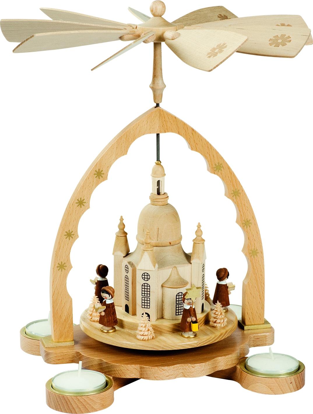 Teelichtpyramide Frauenkirche mit Kurrende