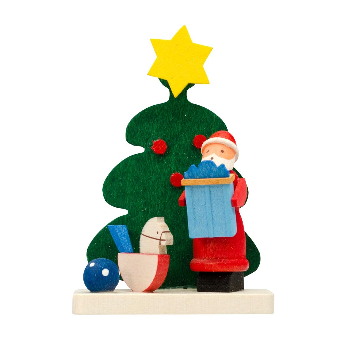 Baumbehang Baum Weihnachtsmann mit Schaukelpferd