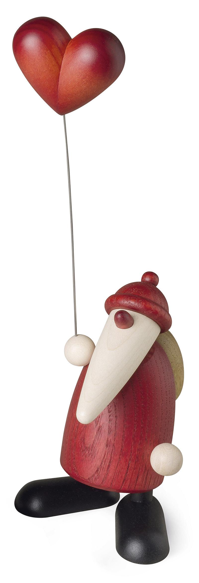 Weihnachtsmann mit Herz