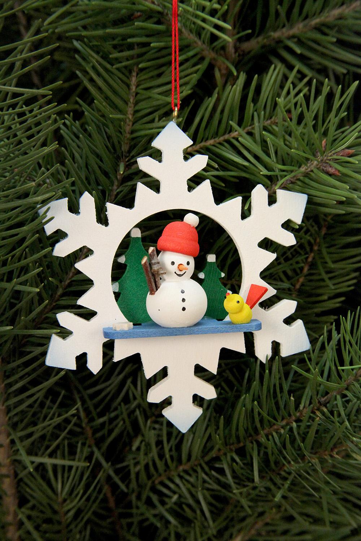 Baumbehang Schneeflocke Schneemann