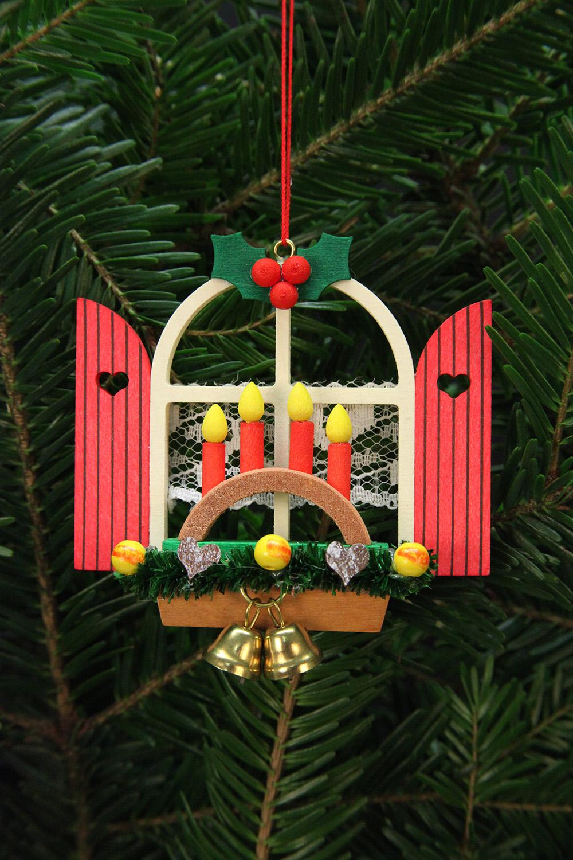 Baumbehang Adventsfenster mit Schwibbogen