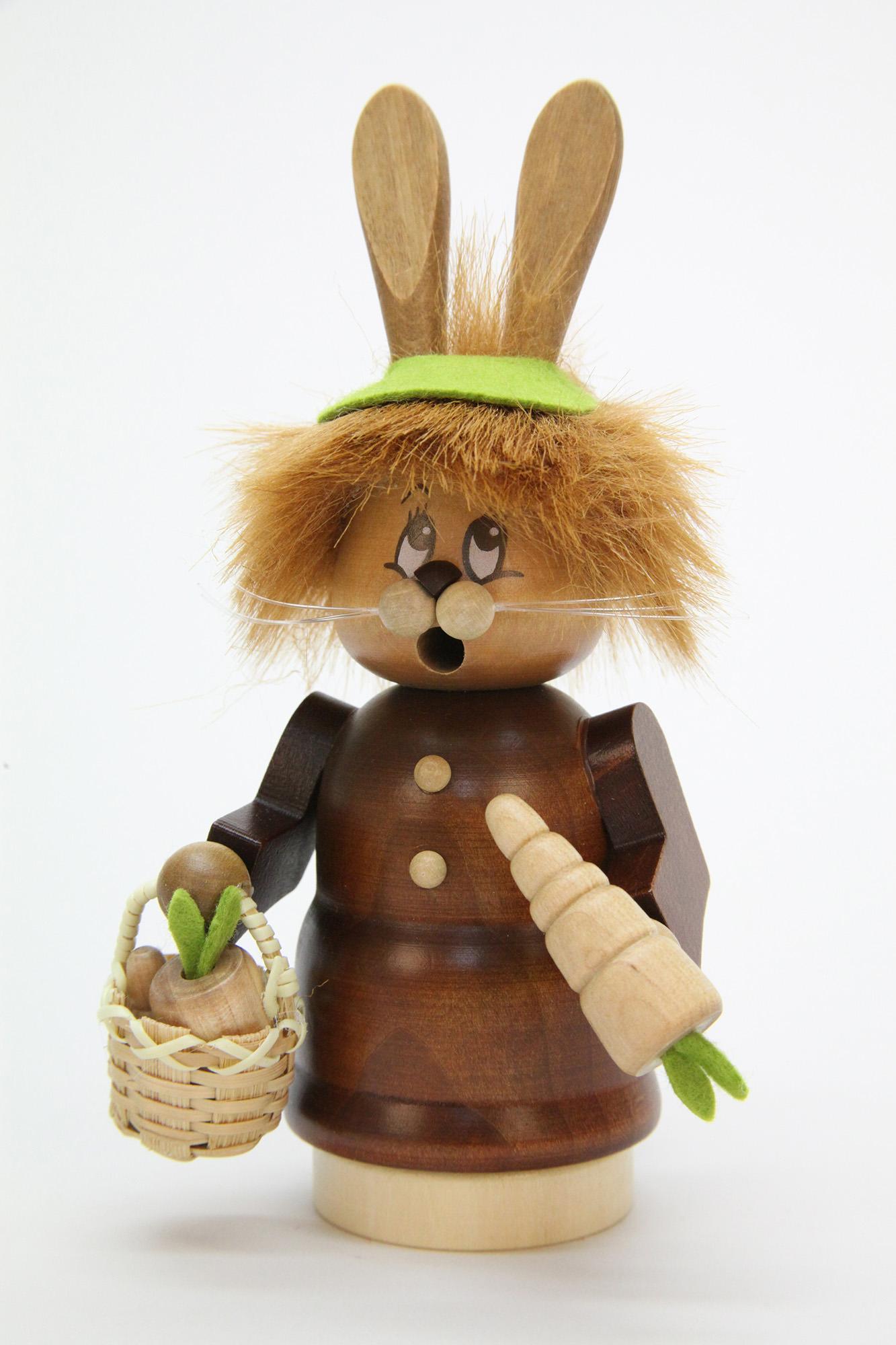 Räuchermännchen Miniwichtel Häsin mit Karotte