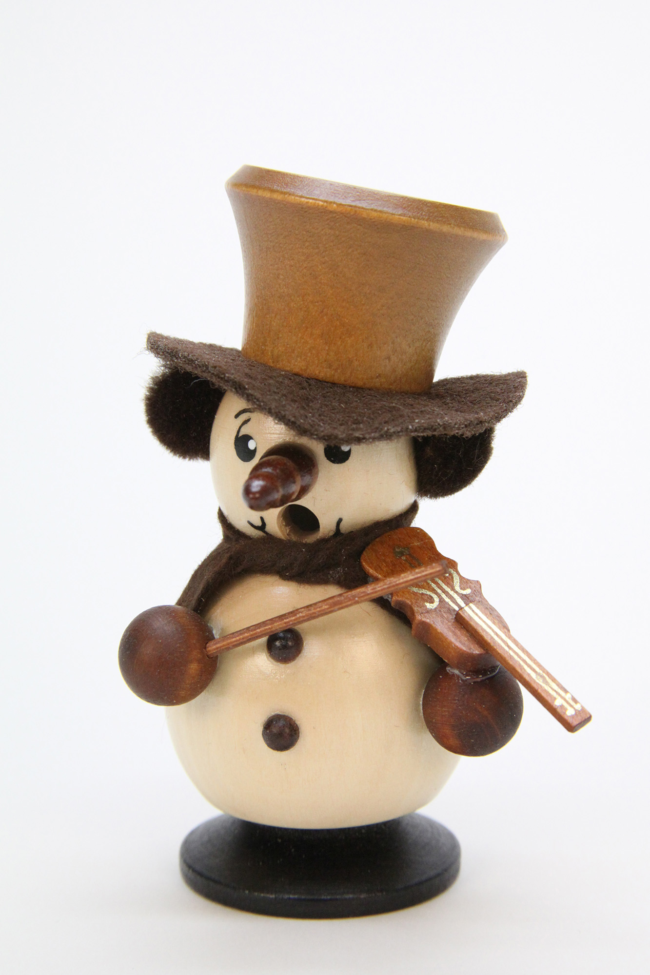 Räuchermännchen Schneebub mit Geige natur