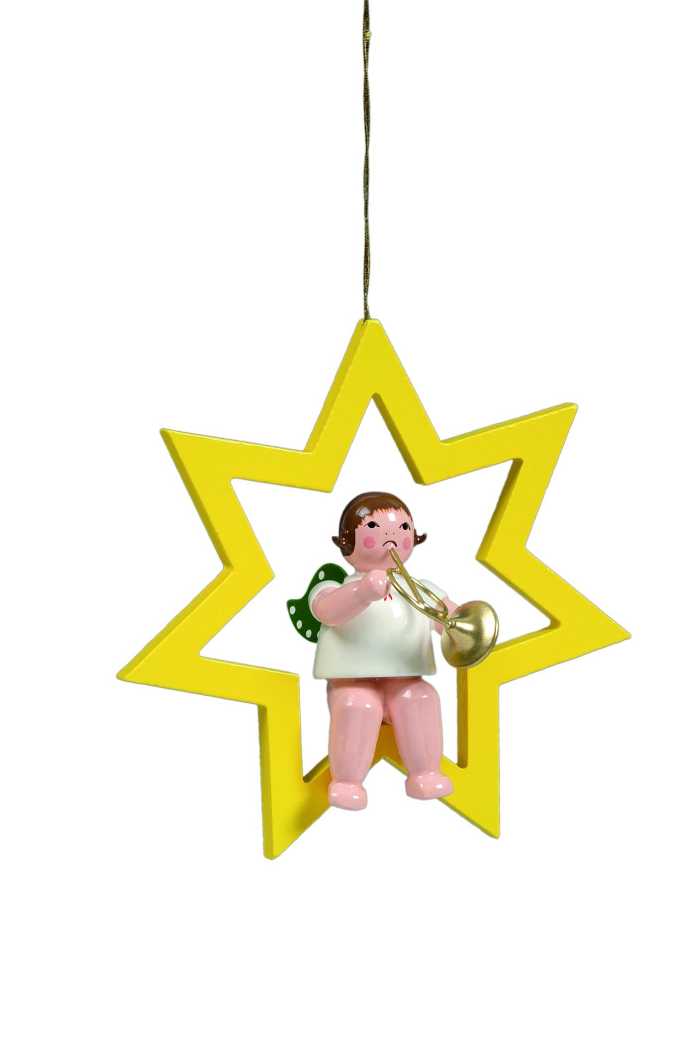 Engel mit Waldhorn im Stern