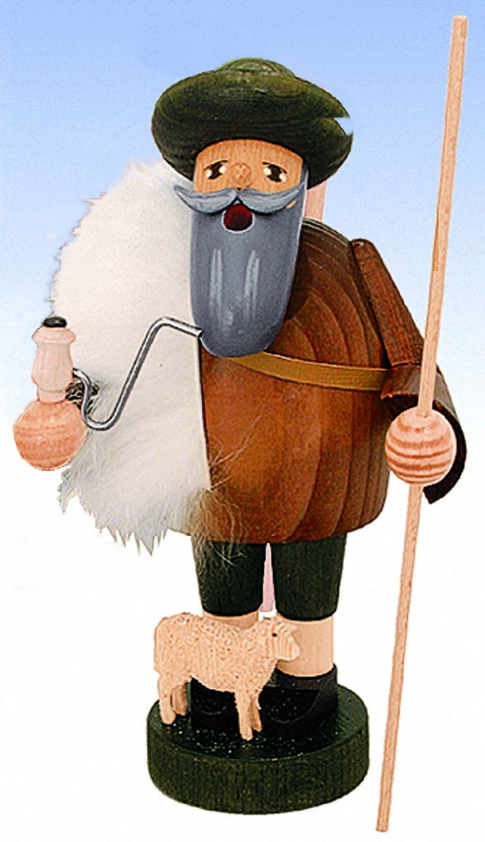 Räucherfigur  Schäfer mit seinem Schäfchen