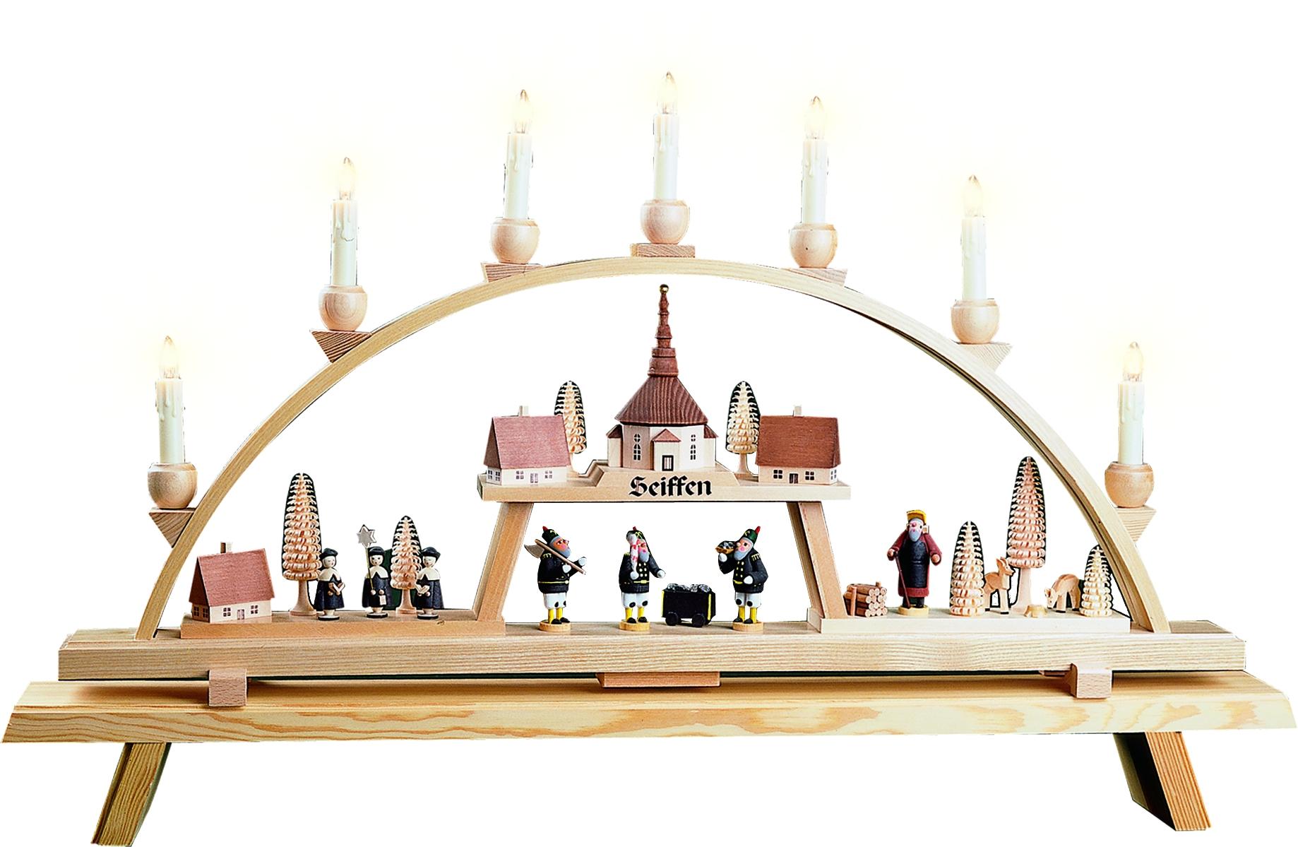 Schwibbogen Original Seiffener Kirchdorf