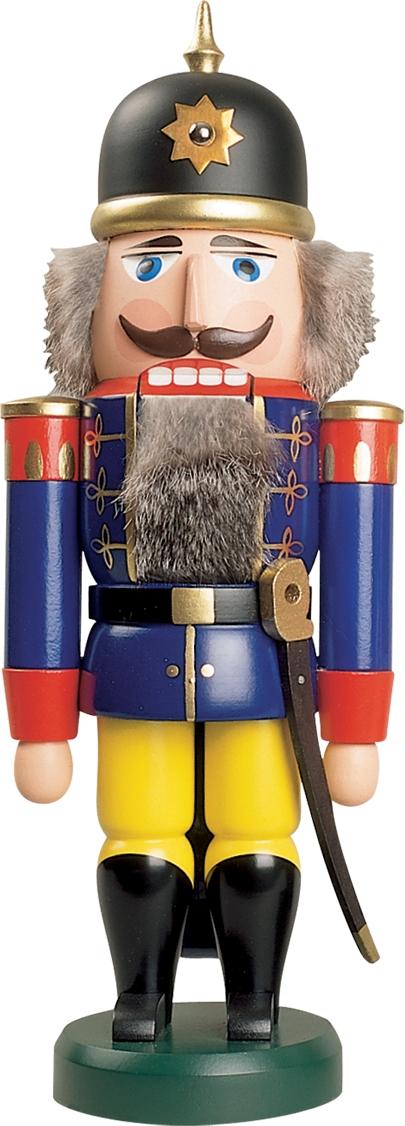 Nussknacker Soldat Farbe Blau