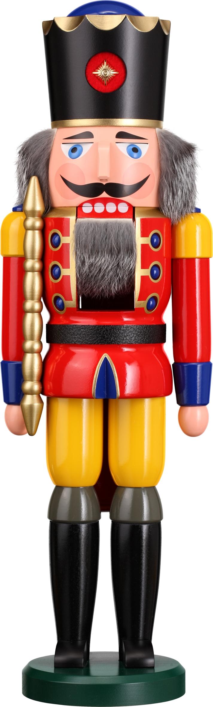 Nussknacker König in roter Farbe