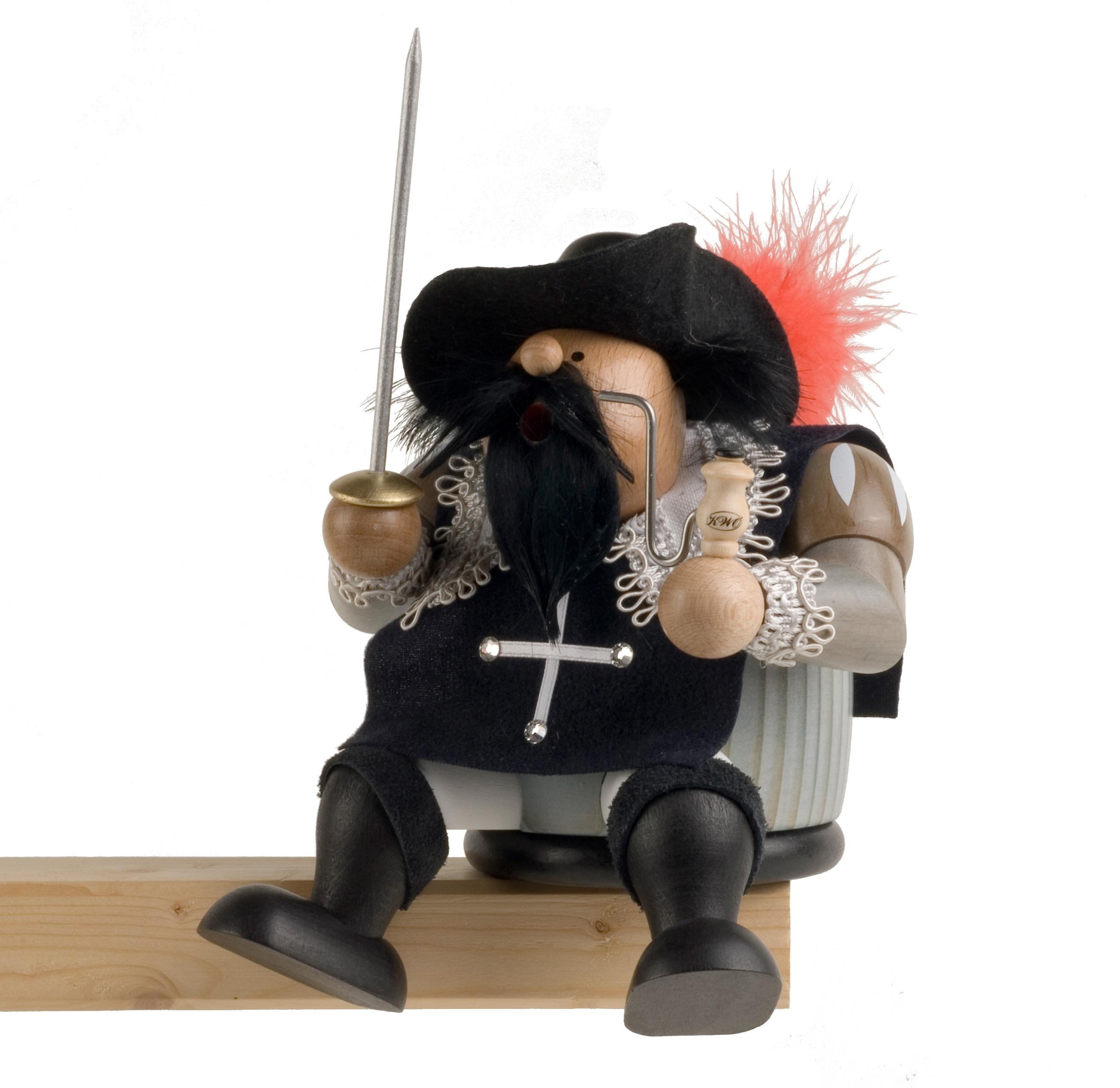 Räuchermännchen Kantenhocker Musketier Athos, limitiert
