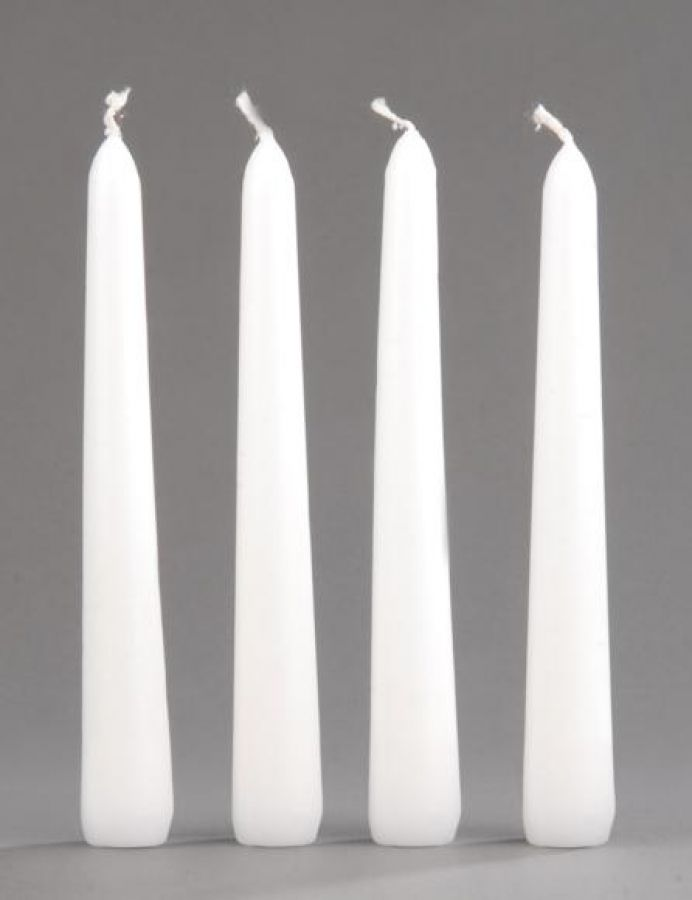 Spitzkerzen weiß 150 x 23 mm - 4 Stück