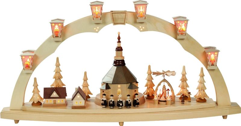 schwibbogen seiffener kirche richard gl sser 40 cm erzgebirgskunst drechsel. Black Bedroom Furniture Sets. Home Design Ideas