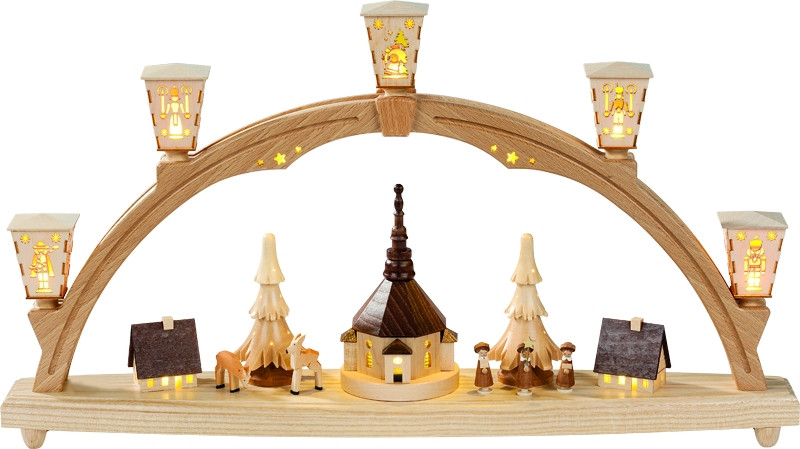 schwibbogen original seiffener kirche erzgebirgskunst drechsel. Black Bedroom Furniture Sets. Home Design Ideas