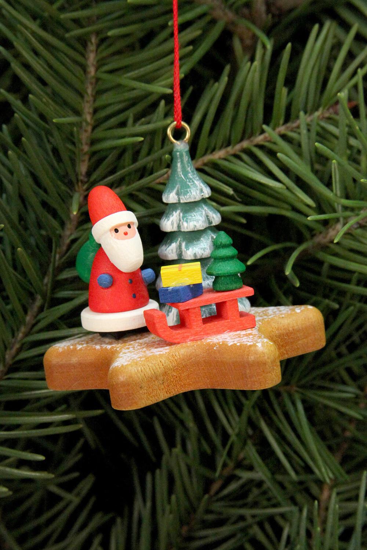 baumbehang nikolaus auf lebkuchenstern lebkuchen baumschmuck weihnachten erzgebirgskunst. Black Bedroom Furniture Sets. Home Design Ideas